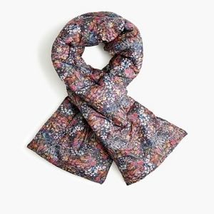 NWT J.Crew Liberty of London Floral Puffer Scarf
